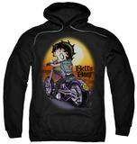 Hoodie: Betty Boop - Wild Biker Pullover Hoodie