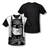 Youth: Batman - B/W Bat Head(black back) T-Shirt
