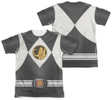 Power Rangers - Black Ranger Uniform (Front/Back Print) T-Shirt