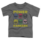 Toddler: Power Rangers - Ranger Heads T-shirts