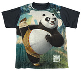 Youth: Kung Fu Panda - Training(black back) T-Shirt