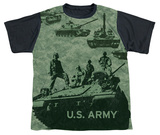Youth: Army - Tank Up(black back) T-shirts