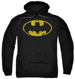 Hoodie: Batman - Classic Logo Distressed Pullover Hoodie