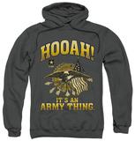 Hoodie: Army - Hooah Pullover Hoodie
