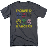 Power Rangers- Ranger Heads T-shirts