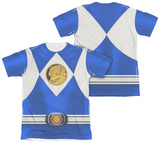Power Rangers - Blue Ranger Emblem (Front/Back Print) Shirt