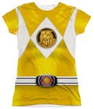 Juniors: Power Rangers - Yellow Ranger Emblem Womens Sublimated