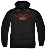 Hoodie: Aerosmith - Winged Logo Vêtement