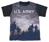 Youth: Army - Up Hill(black back) Shirts