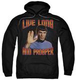 Hoodie: Star Trek - Live Long And Prosper Pullover Hoodie