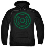 Hoodie: Green Lantern - Green Flame Logo Pullover Hoodie