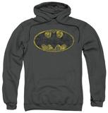 Hoodie: Batman - Tattered Logo Pullover Hoodie