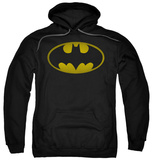 Hoodie: Batman - Washed Bat Logo Pullover Hoodie