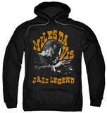 Hoodie: Miles Davis - Jazz Legend Pullover Hoodie