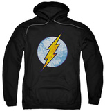 Hoodie: The Flash - Flash Neon Distress Logo Pullover Hoodie