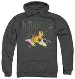 Hoodie: Elvis Presley - Multicolored Pullover Hoodie