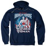 Hoodie: Wonder Woman - American Heroine Pullover Hoodie