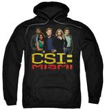 Hoodie: CSI Miami - The Cast In Black Pullover Hoodie