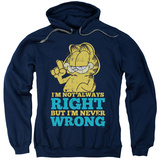 Hoodie: Garfield - Never Wrong Pullover Hoodie