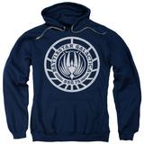 Hoodie: Battlestar Galactica - Scratched Bsg Logo Pullover Hoodie