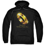 Hoodie: The Lord of the Rings: The Fellowship of the Ring - One Ring Pullover Hoodie
