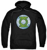 Hoodie: Green Lantern - GL Neon Distress Logo Pullover Hoodie