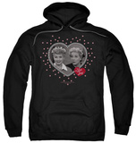 Hoodie: I Love Lucy - Hearts And Dots Pullover Hoodie