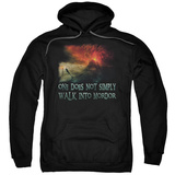 Hoodie: The Lord of the Rings: The Fellowship of the Ring - Walk In Mordor Pullover Hoodie