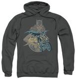 Hoodie: Batman - Batgirl Biker Pullover Hoodie