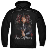Hoodie: The Lord of the Rings: The Return of the King - Aragorn Pullover Hoodie