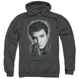 Hoodie: Elvis Presley - Grey Portrait Pullover Hoodie
