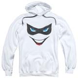 Hoodie: Batman - Harley Face Pullover Hoodie