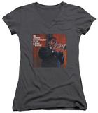 Juniors: John Coltrane - Last Train V-Neck T-shirts