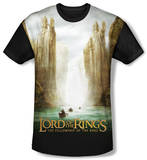 Youth: The Lord Of The Rings: The Fellowship Of The Ring - Fellowship Poster(black back) T-shirts