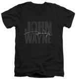 John Wayne - Silhouette Signature V-Neck T-shirts