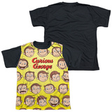 Youth: Curious George - Curious Faces(black back) T-Shirt