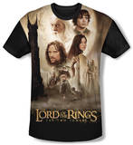 Youth: The Lord Of The Rings: The Two Towers - Towers Poster(black back) T-shirts