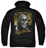 Hoodie: Ray Charles - Golden Glasses Pullover Hoodie