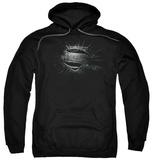 Hoodie: Man Of Steel - Mos Shield Burst Pullover Hoodie