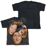 Youth: The Three Stooges - Stooges All Over(black back) T-Shirt
