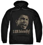 Hoodie: Muhammad Ali - Friendly Pullover Hoodie