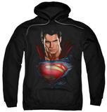 Hoodie: Man Of Steel - Super Bust Pullover Hoodie