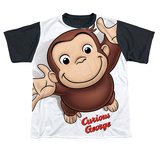 Youth: Curious George - Hands In The Air(black back) Shirt