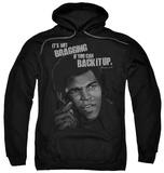 Hoodie: Muhammad Ali - Back It Up Pullover Hoodie