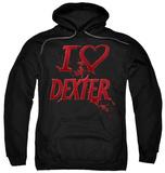 Hoodie: Dexter - I Heart Dexter Pullover Hoodie