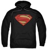 Hoodie: Man Of Steel - New Solid Shield Pullover Hoodie