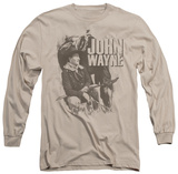 Long Sleeve: John Wayne - In The West T-shirts