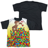Youth: Curious George - Building Blocks(black back) T-shirts