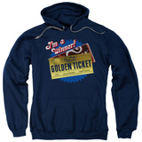 Hoodie: Charlie and the Chocolate Factory - Golden Ticket Pullover Hoodie