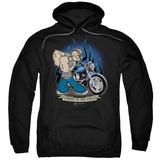Hoodie: Popeye - Biker Popeye Pullover Hoodie